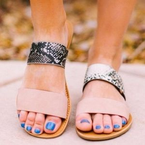 The PURRFECT Flat - Snake print